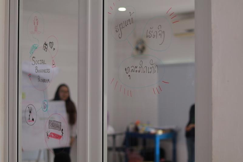 """""""ການຊ່ວຍໄວໜຸ່ມສ້າງທຸລະກິດເພື່ອສັງຄົມ"""" Social Business Incubation for Youth Program"""